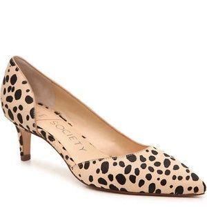 Sole Society cheetah calf hair kitten heels-